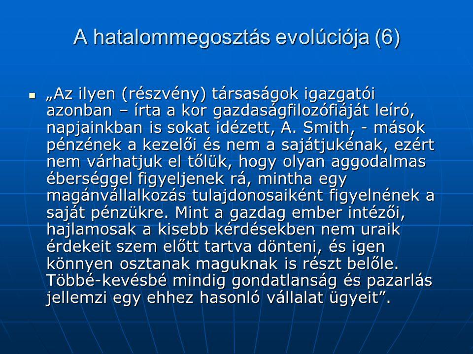 A hatalommegosztás evolúciója (6)
