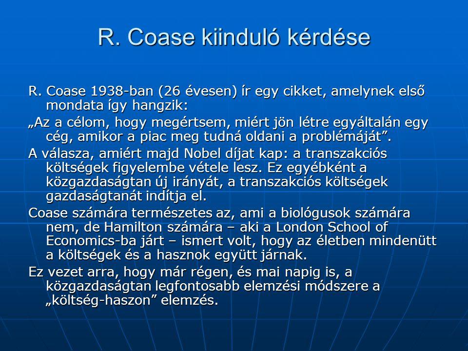 R. Coase kiinduló kérdése