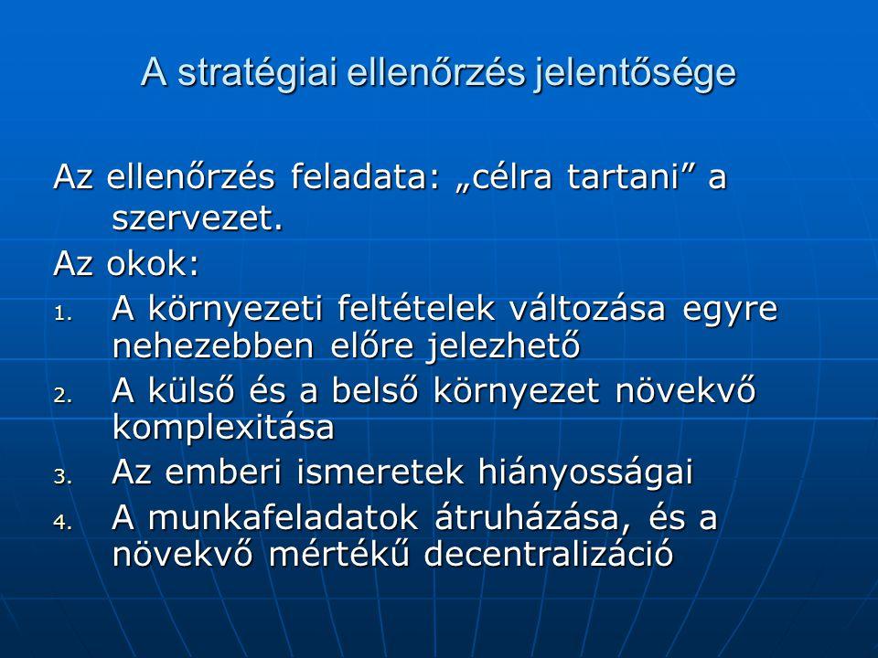 A stratégiai ellenőrzés jelentősége
