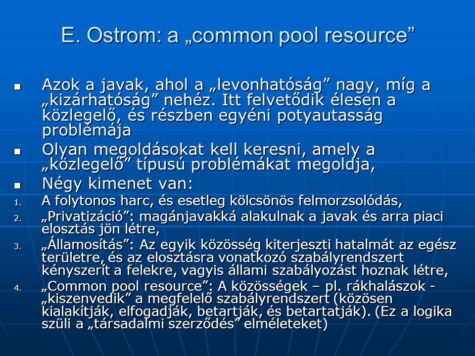 """E. Ostrom: a """"common pool resource"""