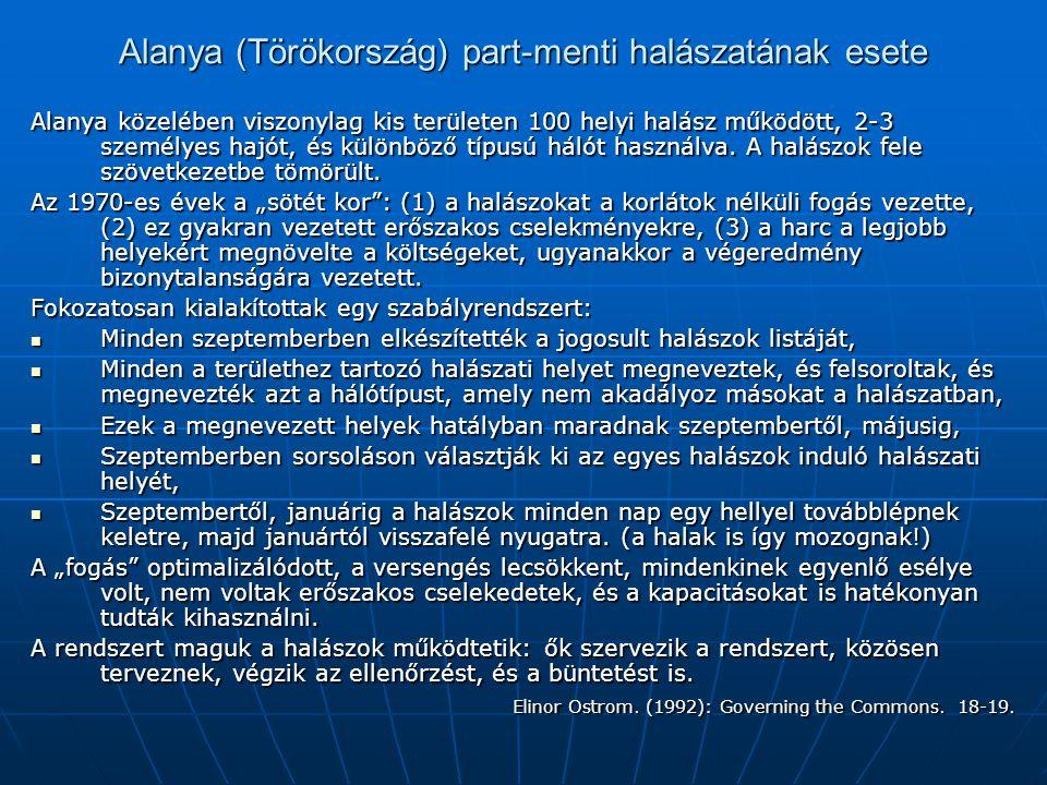 Alanya (Törökország) part-menti halászatának esete