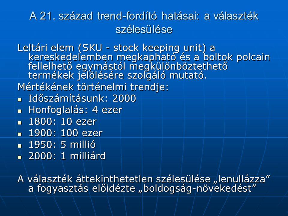 A 21. század trend-fordító hatásai: a választék szélesülése