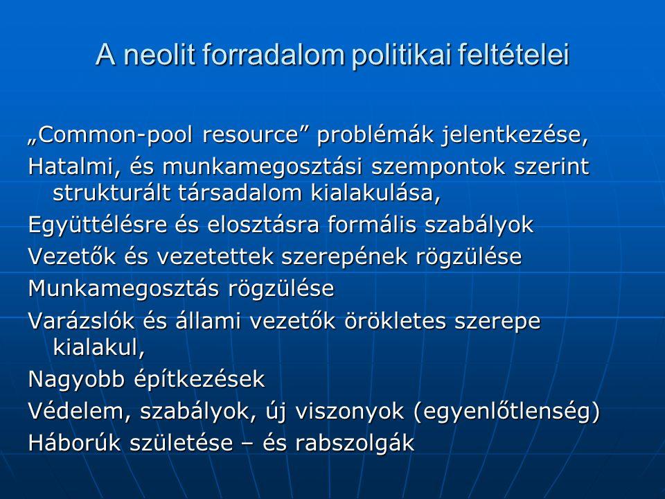 A neolit forradalom politikai feltételei