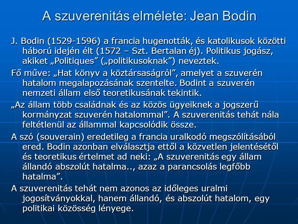 A szuverenitás elmélete: Jean Bodin