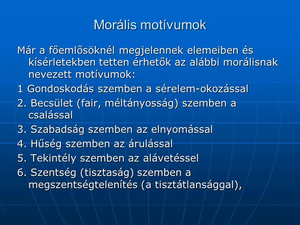 Morális motívumok