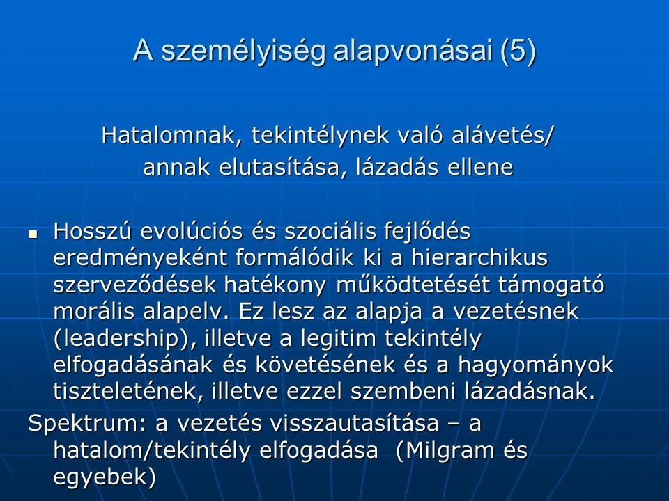 A személyiség alapvonásai (5)