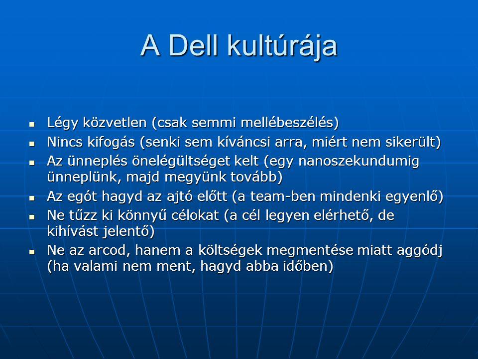 A Dell kultúrája Légy közvetlen (csak semmi mellébeszélés)