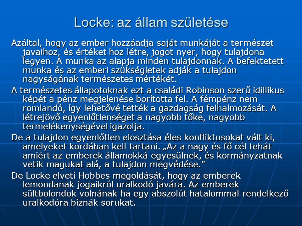 Locke: az állam születése