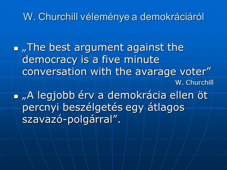 W. Churchill véleménye a demokráciáról