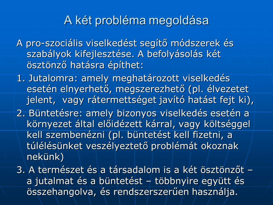 A két probléma megoldása