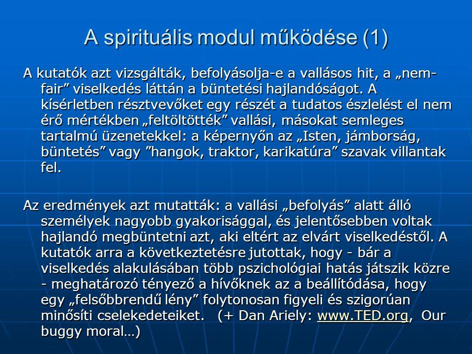 A spirituális modul működése (1)