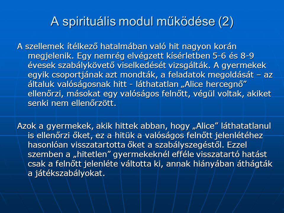 A spirituális modul működése (2)
