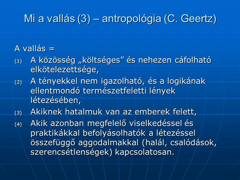Mi a vallás (3) – antropológia (C. Geertz)