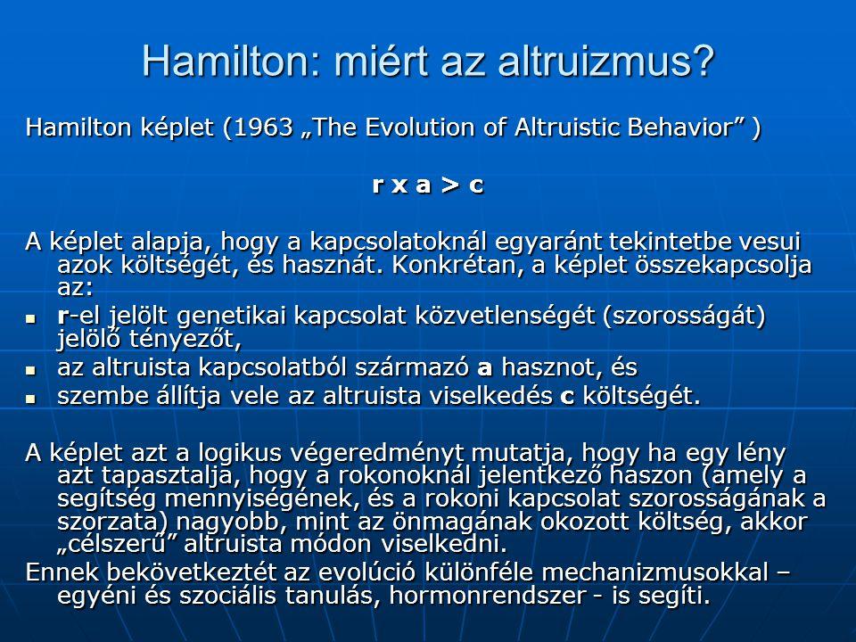 Hamilton: miért az altruizmus