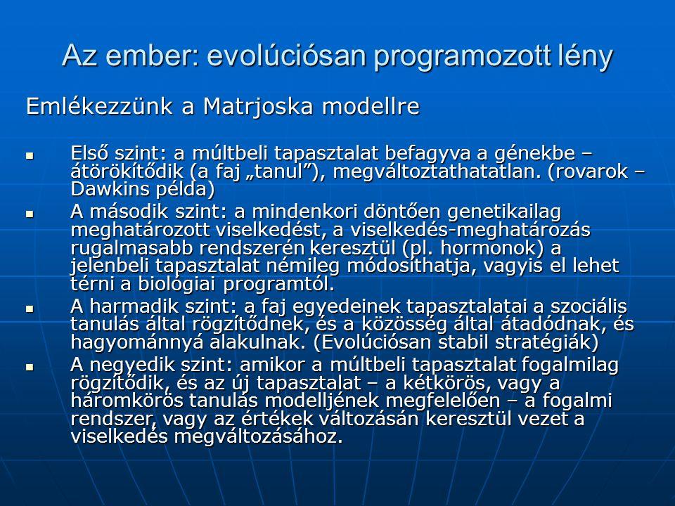 Az ember: evolúciósan programozott lény