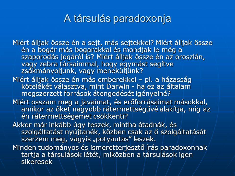 A társulás paradoxonja