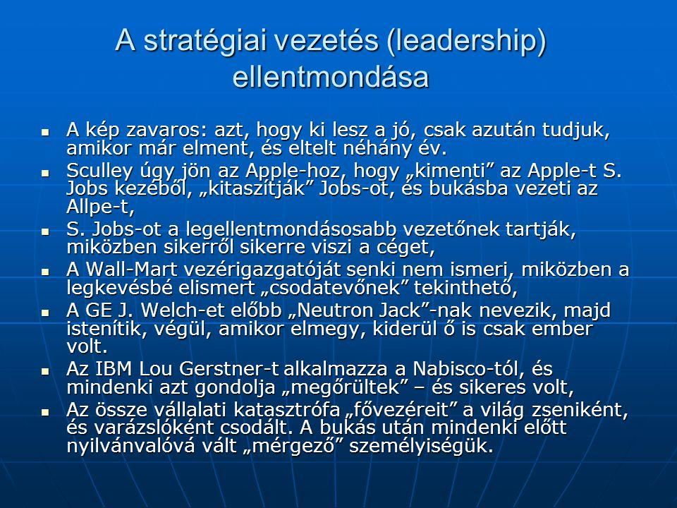 A stratégiai vezetés (leadership) ellentmondása