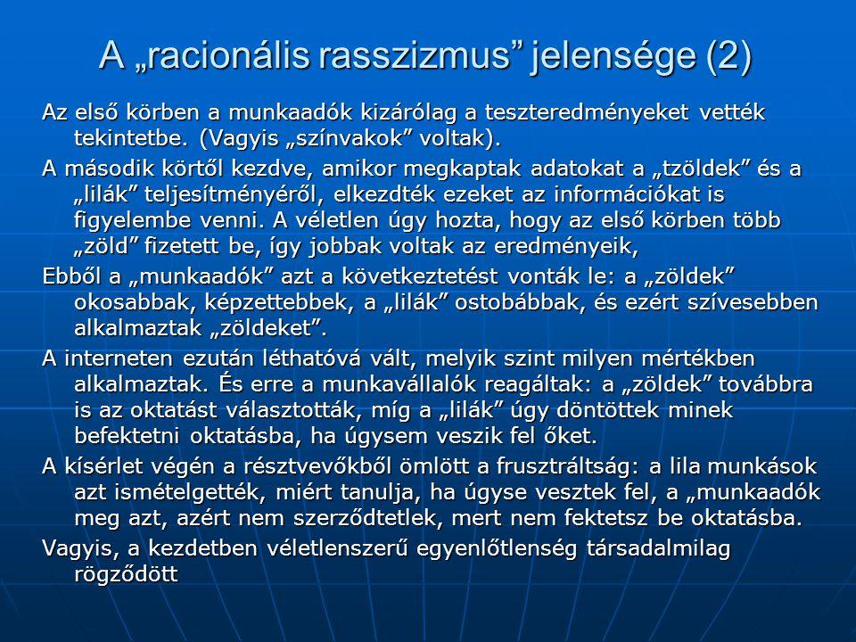 """A """"racionális rasszizmus jelensége (2)"""
