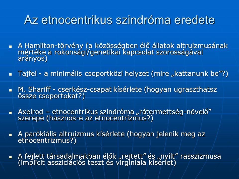 Az etnocentrikus szindróma eredete