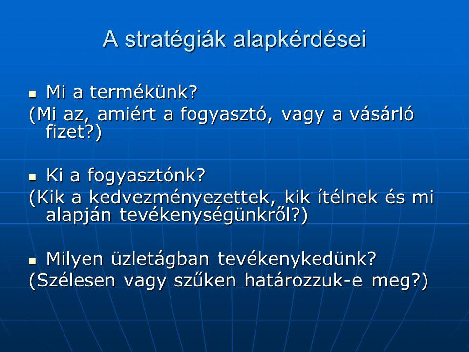 A stratégiák alapkérdései