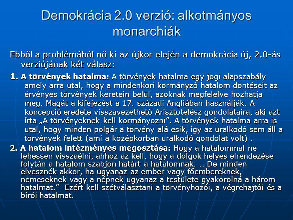 Demokrácia 2.0 verzió: alkotmányos monarchiák