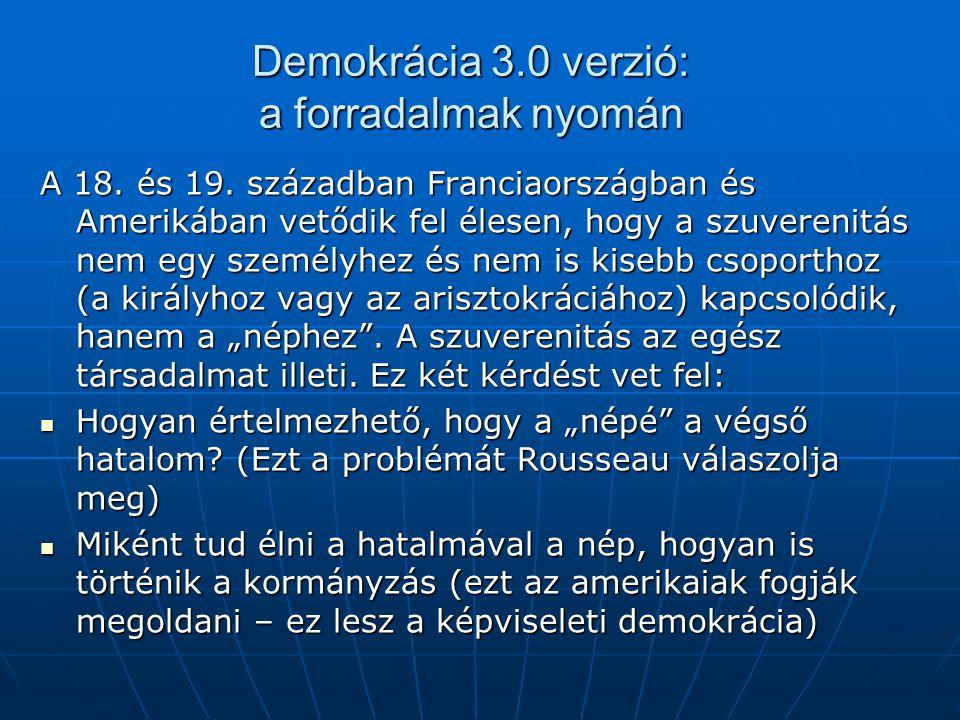 Demokrácia 3.0 verzió: a forradalmak nyomán