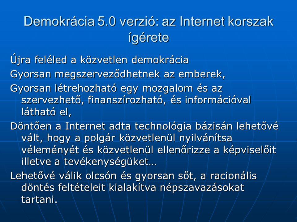 Demokrácia 5.0 verzió: az Internet korszak ígérete