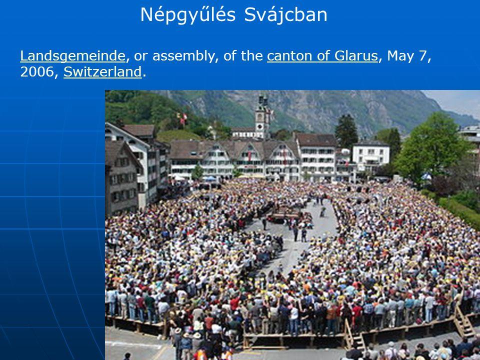 Népgyűlés Svájcban Landsgemeinde, or assembly, of the canton of Glarus, May 7, 2006, Switzerland.