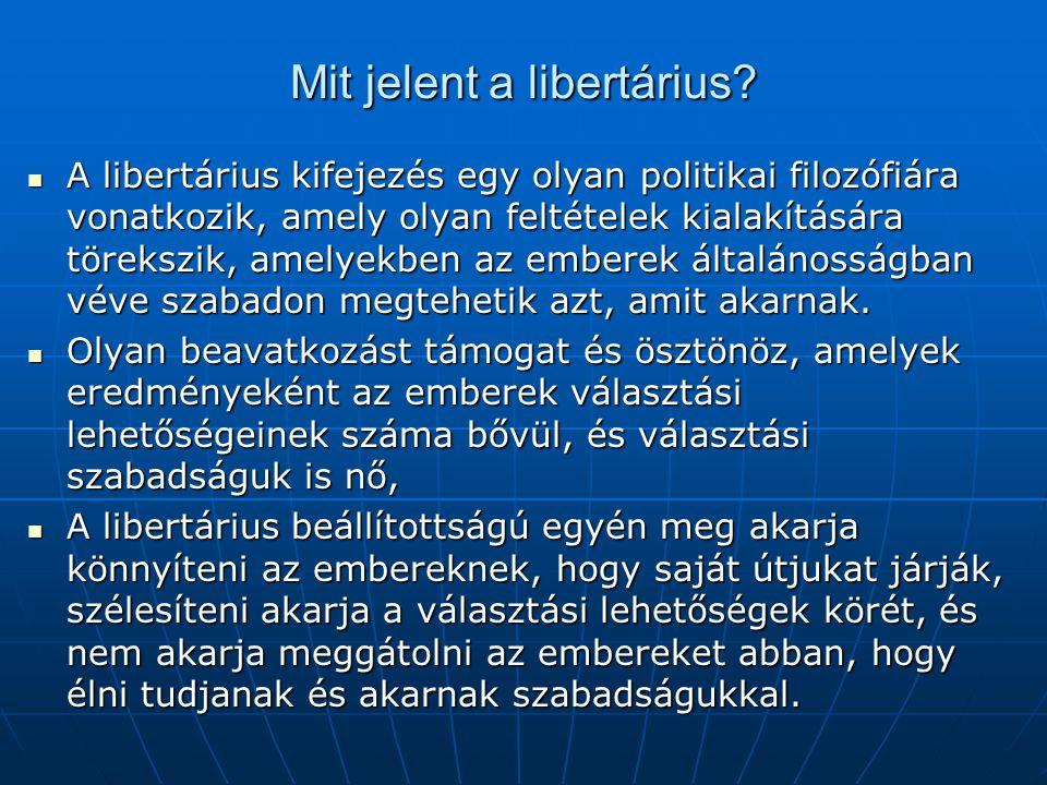 Mit jelent a libertárius
