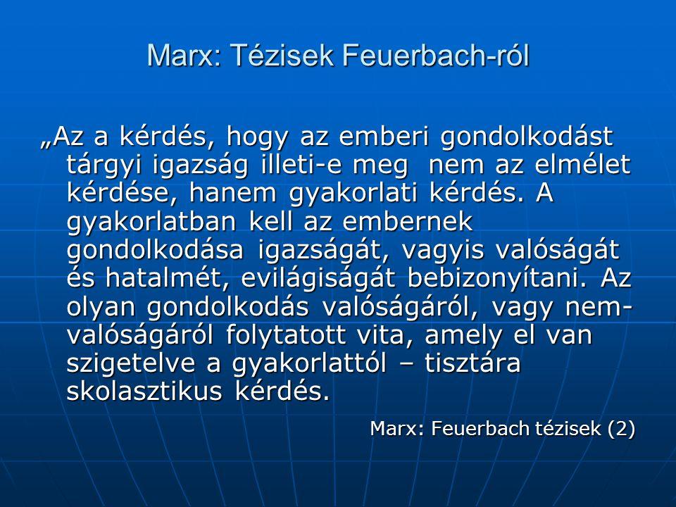 Marx: Tézisek Feuerbach-ról