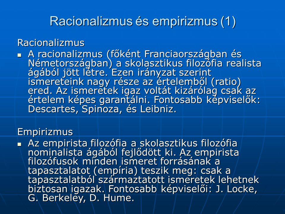 Racionalizmus és empirizmus (1)