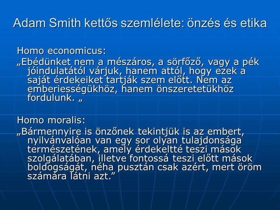 Adam Smith kettős szemlélete: önzés és etika