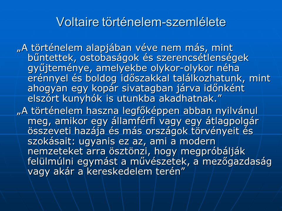 Voltaire történelem-szemlélete
