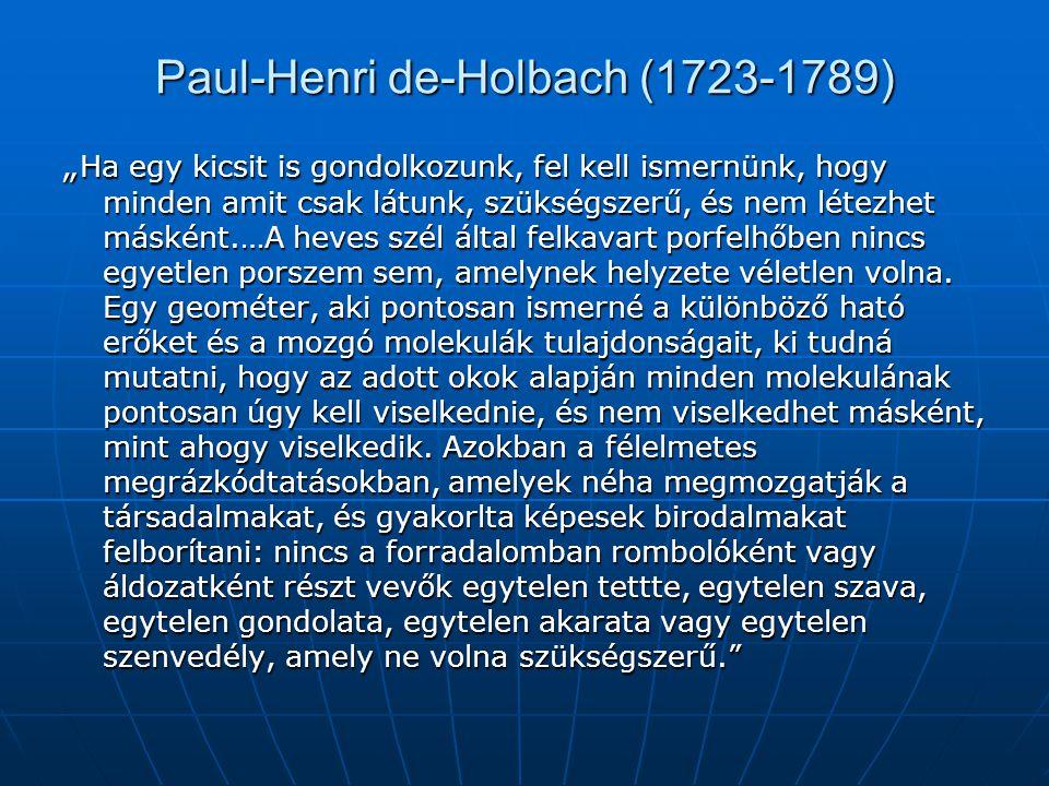 Paul-Henri de-Holbach (1723-1789)