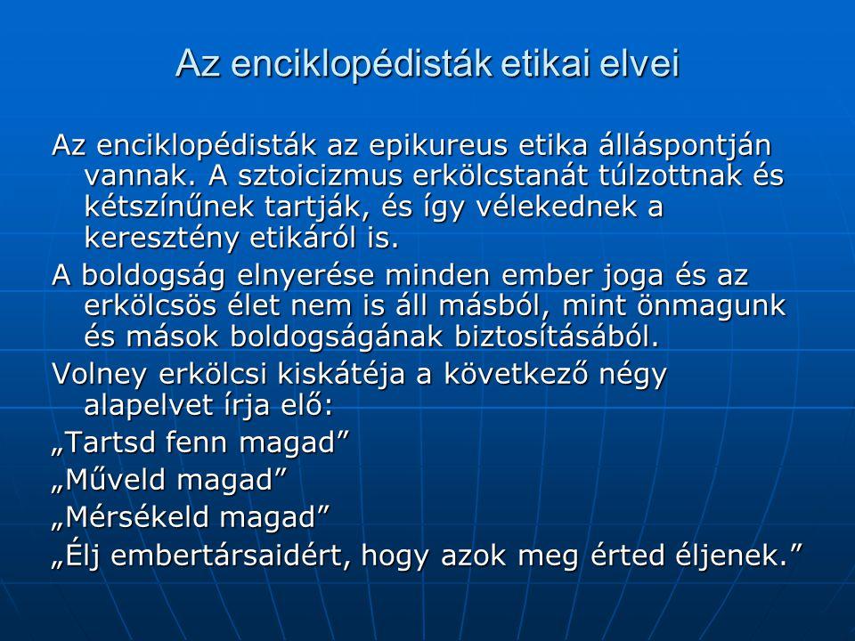 Az enciklopédisták etikai elvei