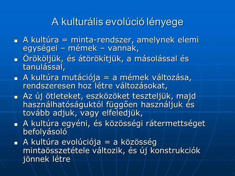 A kulturális evolúció lényege