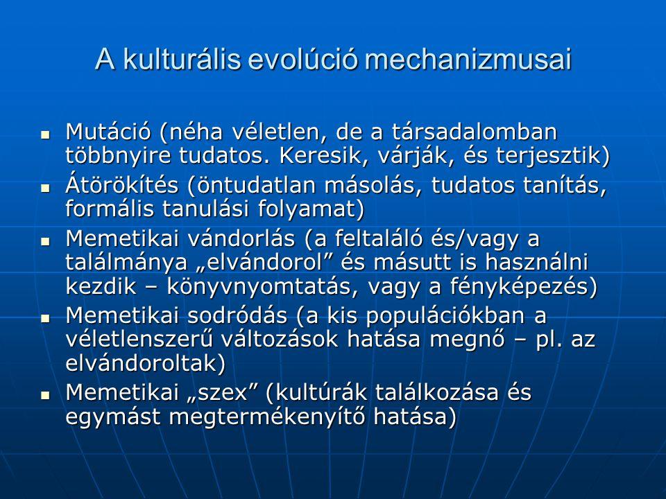 A kulturális evolúció mechanizmusai