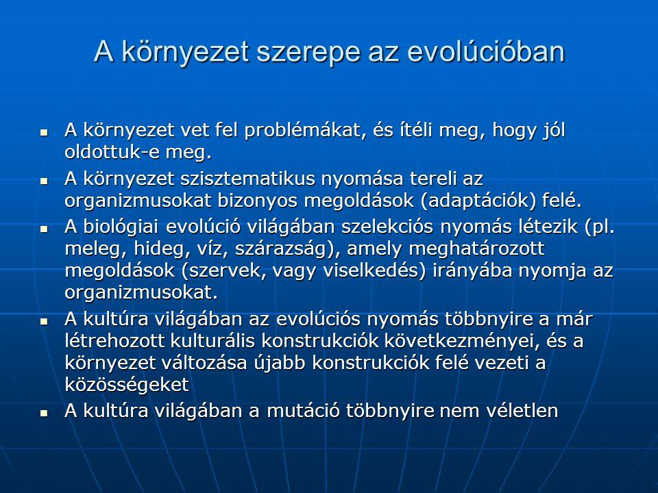 A környezet szerepe az evolúcióban