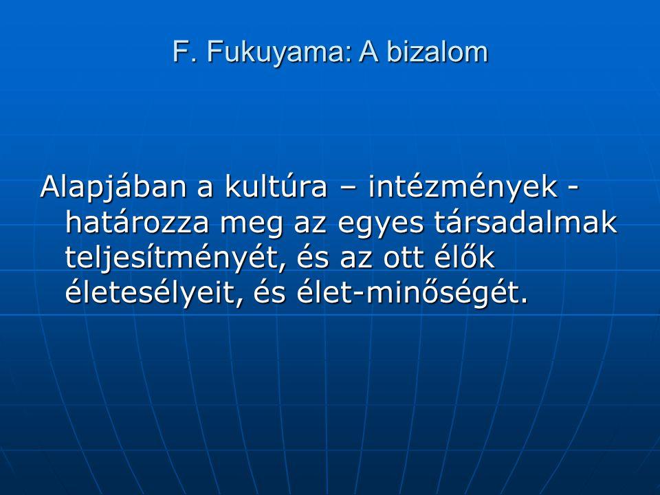 F. Fukuyama: A bizalom