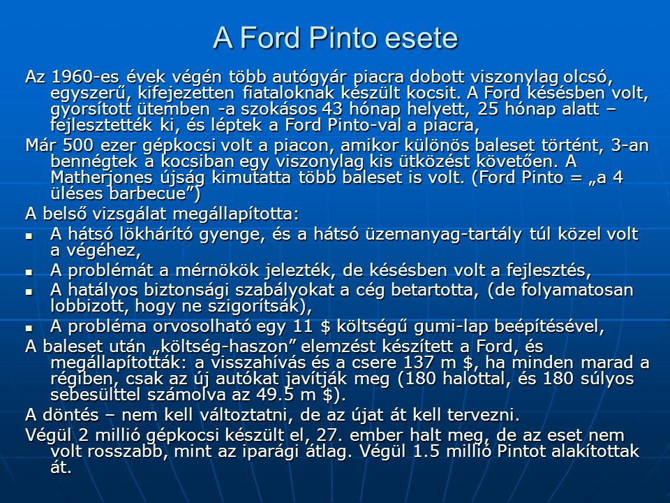 A Ford Pinto esete