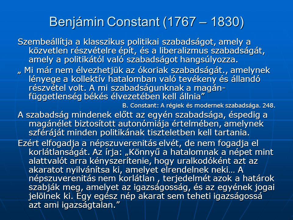 Benjámin Constant (1767 – 1830)