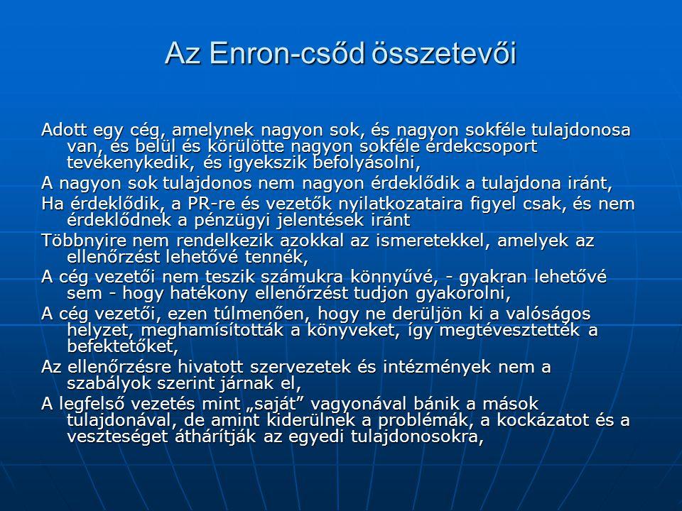 Az Enron-csőd összetevői