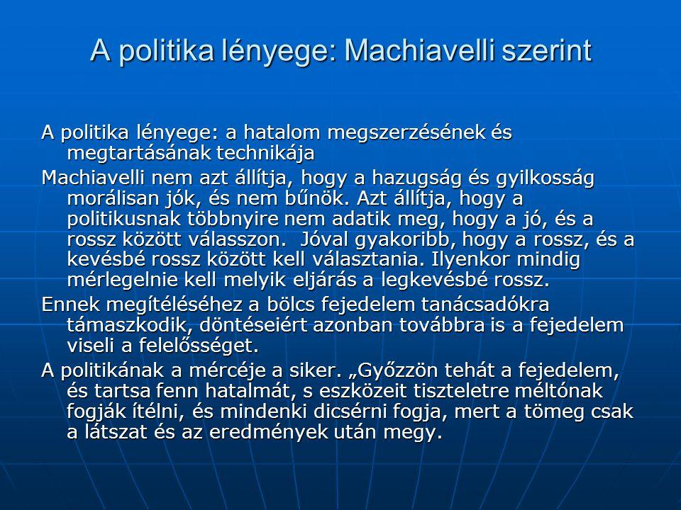 A politika lényege: Machiavelli szerint