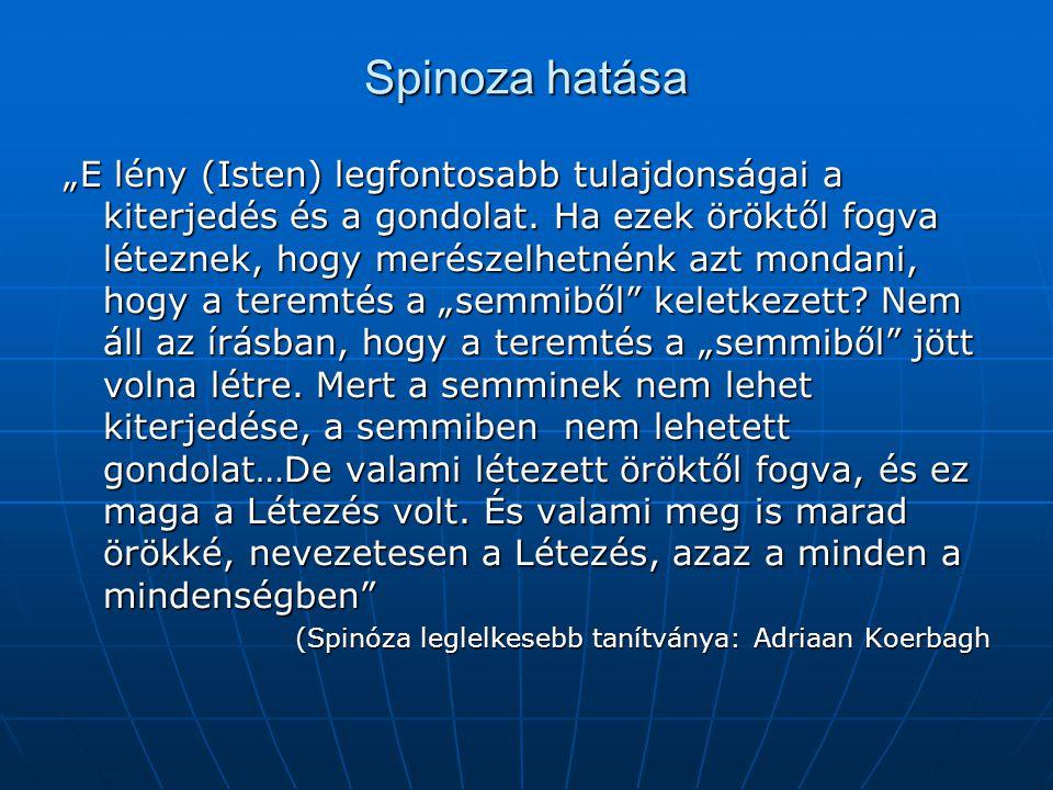 Spinoza hatása