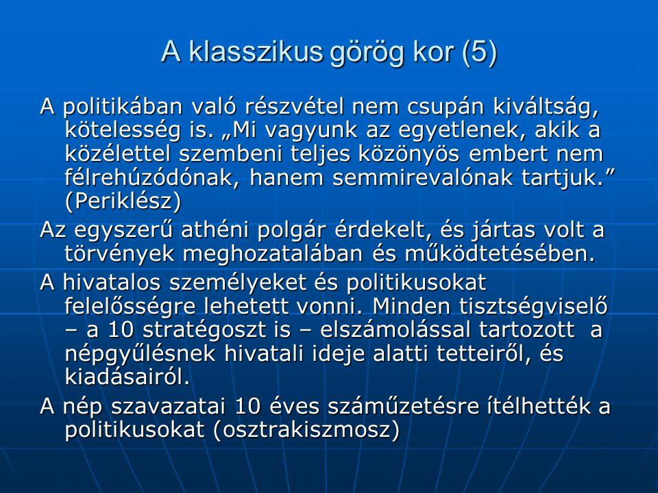 A klasszikus görög kor (5)