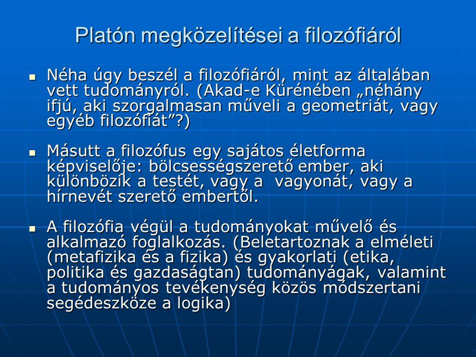 Platón megközelítései a filozófiáról