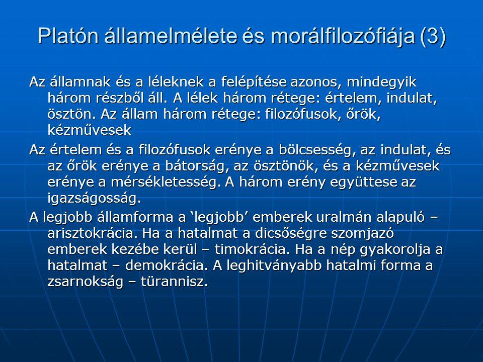 Platón államelmélete és morálfilozófiája (3)