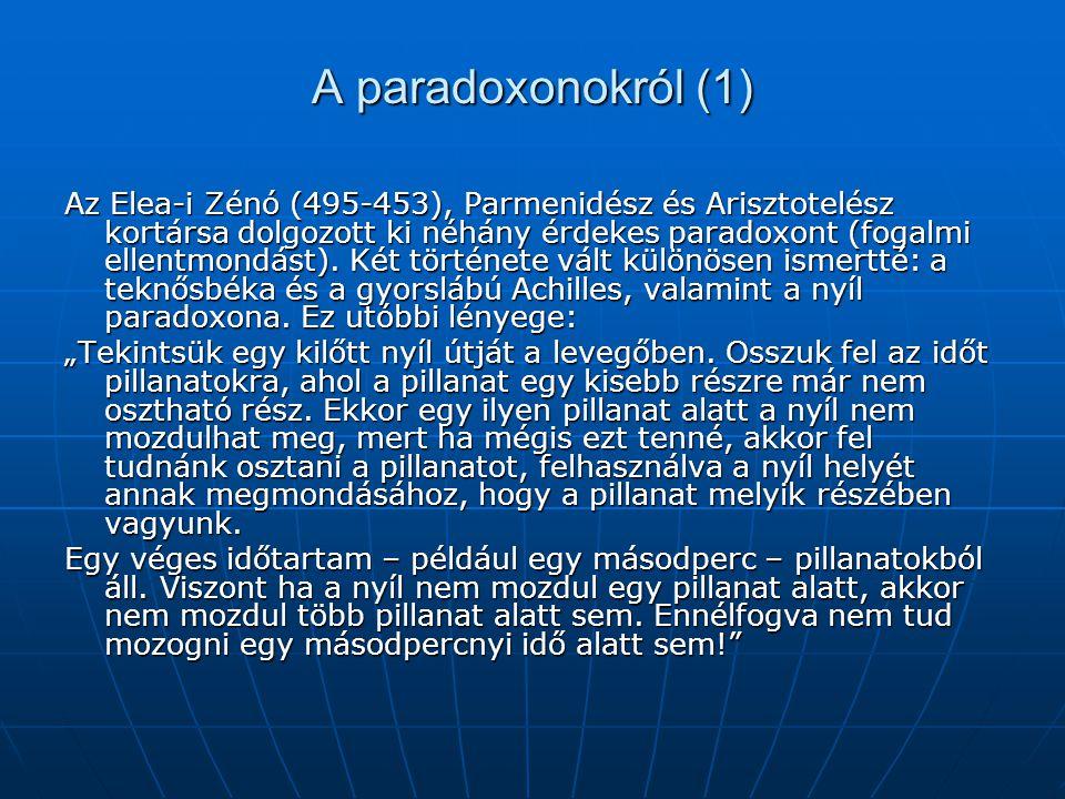 A paradoxonokról (1)