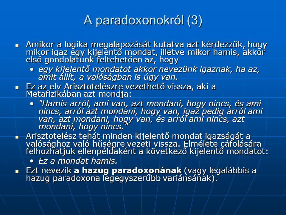 A paradoxonokról (3)