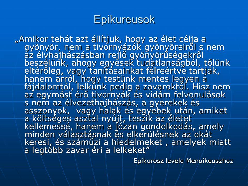 Epikureusok